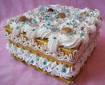 Golden Square Cake Box