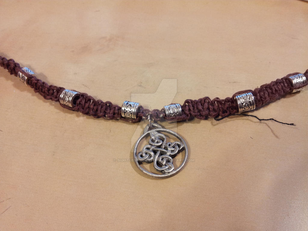 Knotted hemp necklace celtic knot cross by sightless sinister on knotted hemp necklace celtic knot cross by sightless sinister aloadofball Images