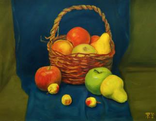Still life with a basket by FebulaBlennert