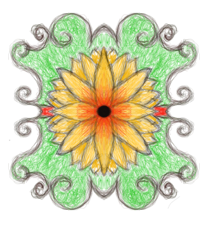 symmetrical flower by Hoverkitty