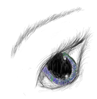 eye practice by Hoverkitty