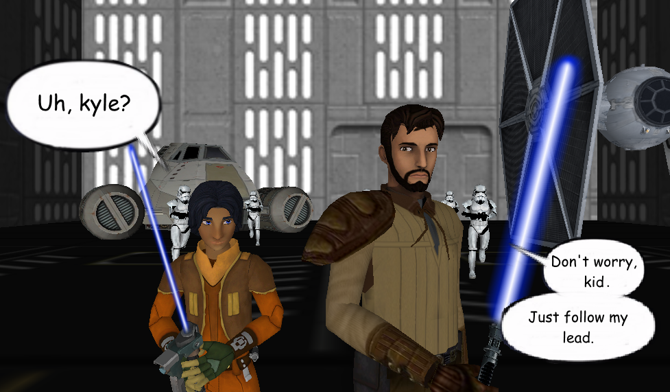 Kyle Katarn Rebels Style And Ezra Bridger By Ordomandalore On Deviantart