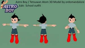 Astro Boy Custom 3D Model - School Outfit