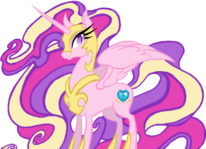 Nightmare Moon in Princess Cadence's colors by ClassicsAreDEAD