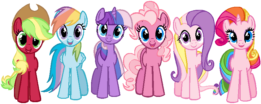 mane_6_in_g3_colors_by_doublevtovka22-d5