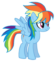 Cloudchaser in Rainbow Dash's colors by ColossalStinker