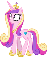 Unicorn Cadance with multicolored mane outlines by ColossalStinker