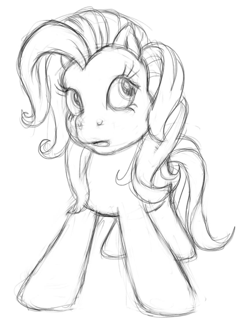 Cute pony drawing