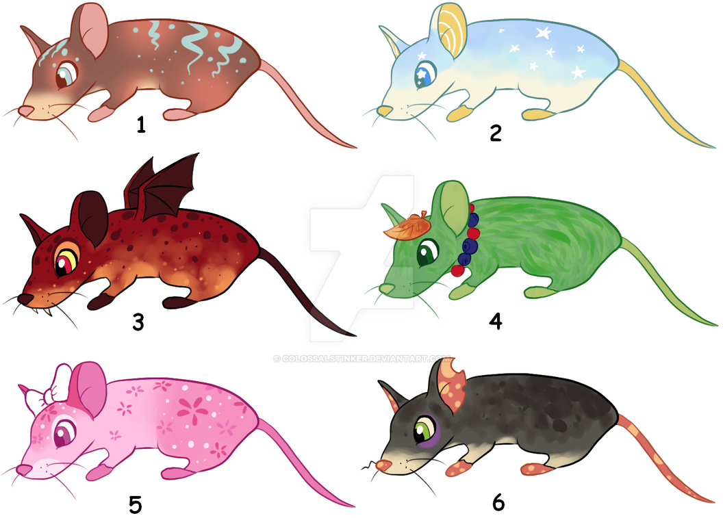 CLOSED Point mouse adoptables by Nutty-Nutzis