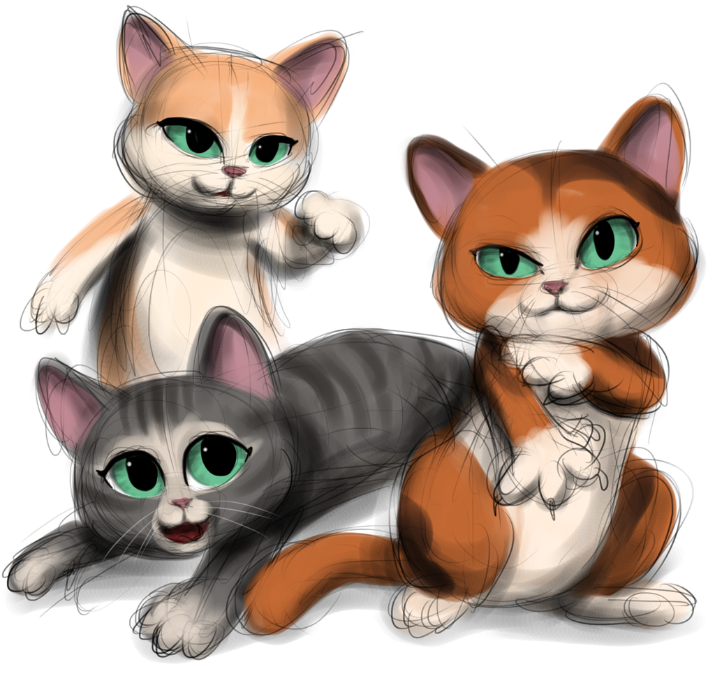 we are three cute little kittens by nutty nutzis on deviantart