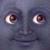 Smiling moon closeup