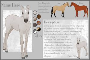 Foal Reference Sheet (YHH) by Rhaine-Horses