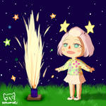 Animal Crossing | Fireworks by Higureism