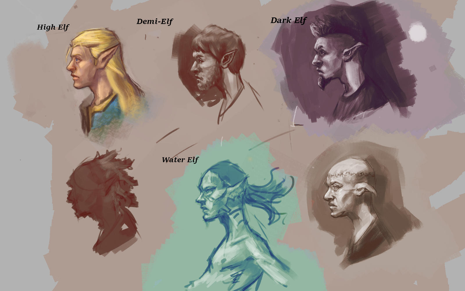 Elven races by Rogi29 on DeviantArt
