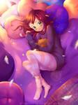 Sleepy Autumn [+ Speedpaint] by Halleyvision