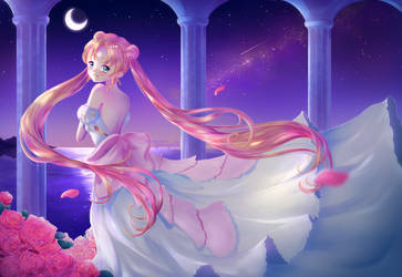 Princess Serenity [+ Speedpaint] by Halleyvision
