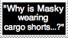 'Cargo shorts?' Stamp by ChiiLuna