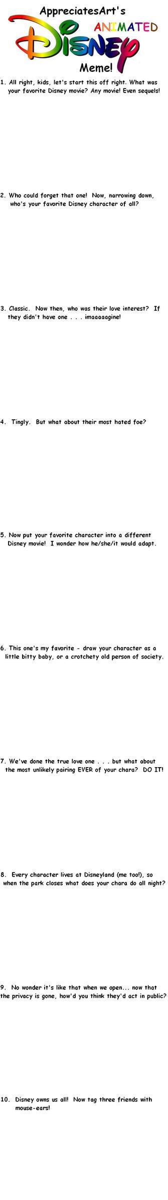 The Disney Movie Meme by AppreciatesArt