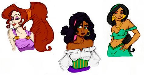 Disney Gals by GargoyleGoddess by AppreciatesArt