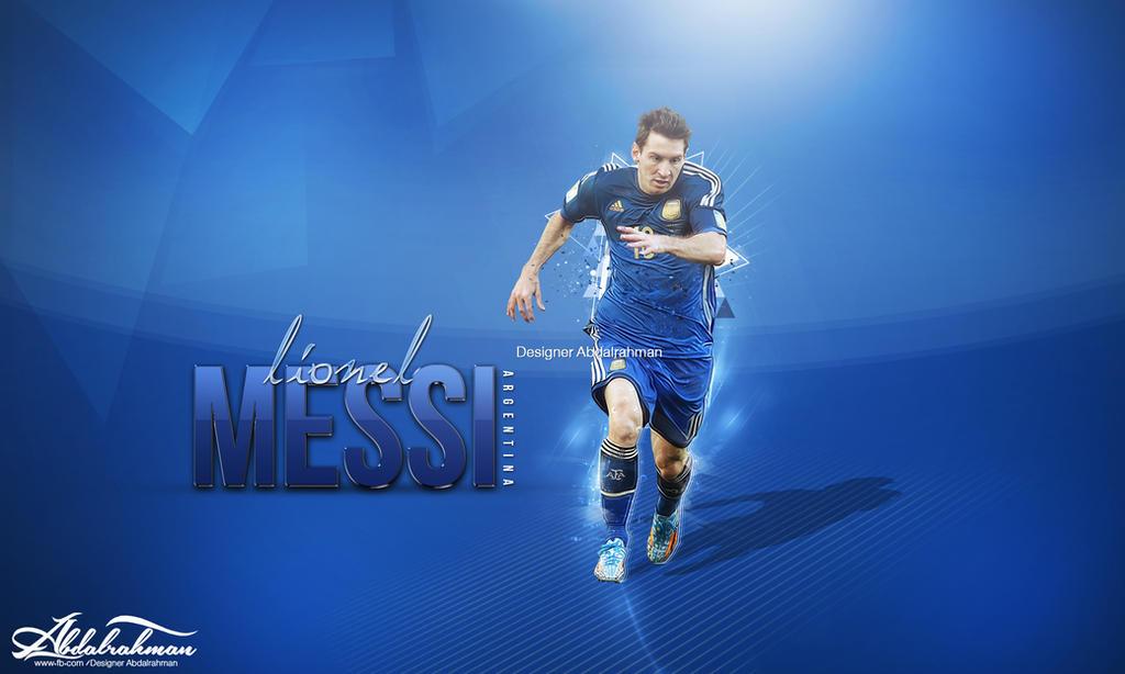 Wallpaper Lionel Messi 2014 By Designer Abdalrahman