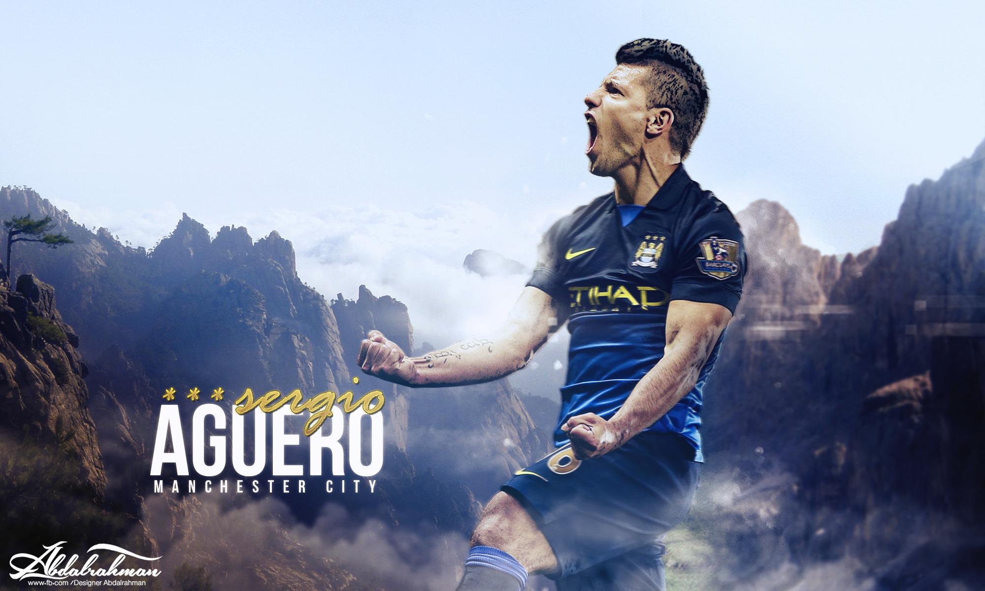 sergio aguero wallpaper man city