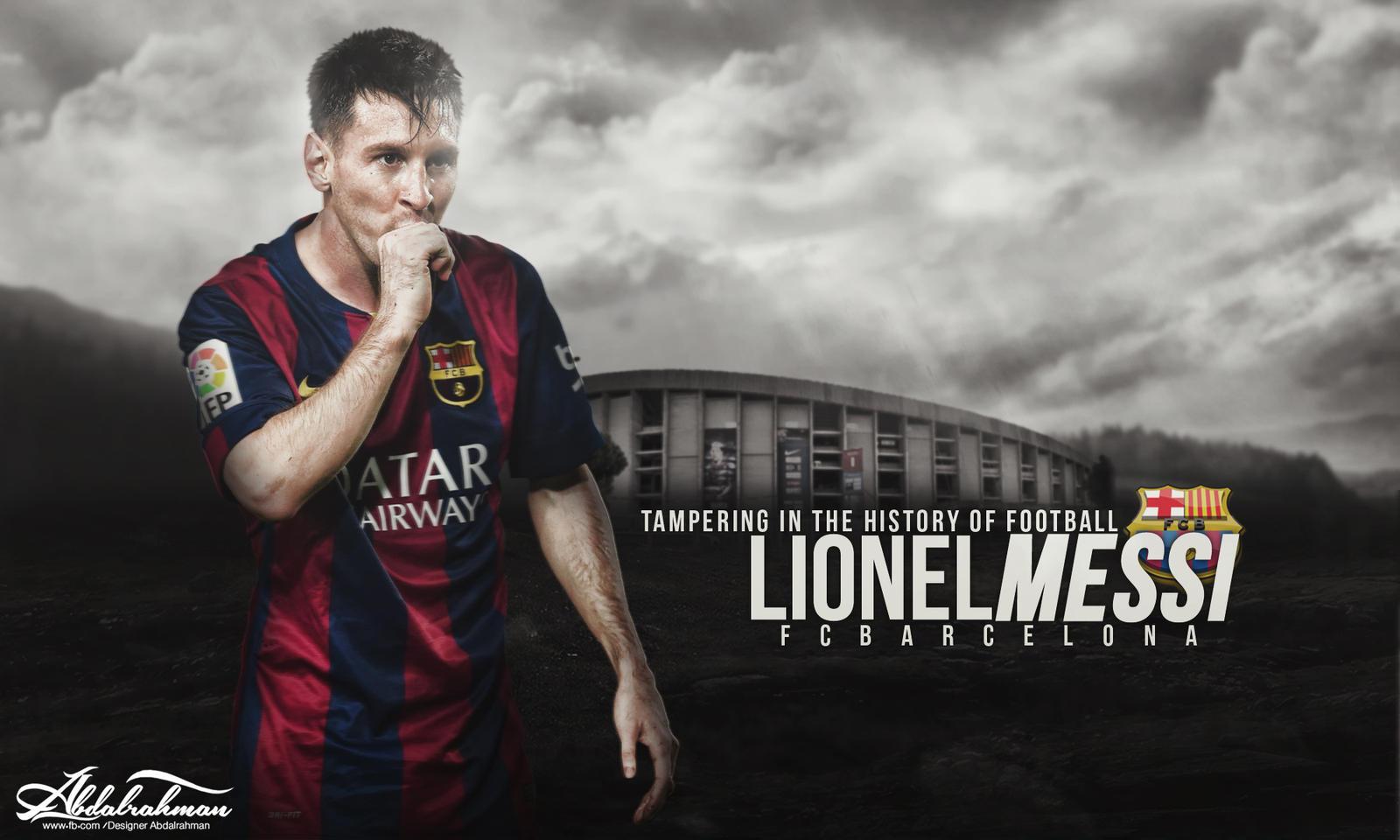 Wallpaper Lionel Messi 2014-2015 By Designer-Abdalrahman