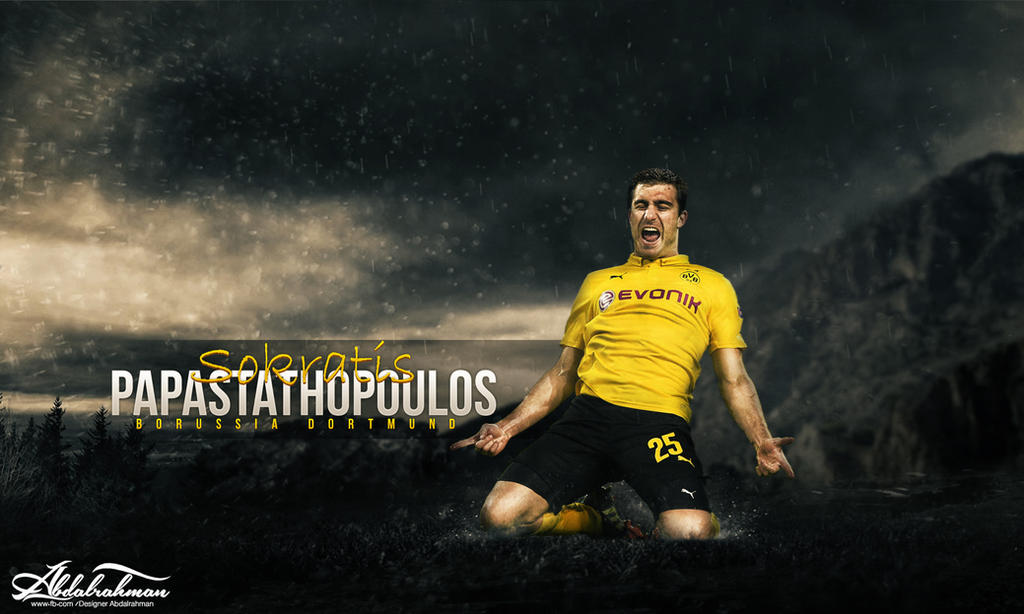 Wallpaper Sokratis Papastathopoulos 2014-2015 By Designer