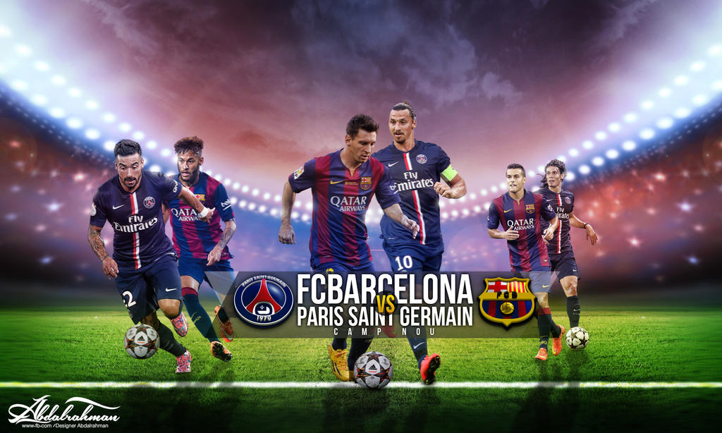 Wallapaper Fc Barcelona Vs Psg 2014 2015 By Designer