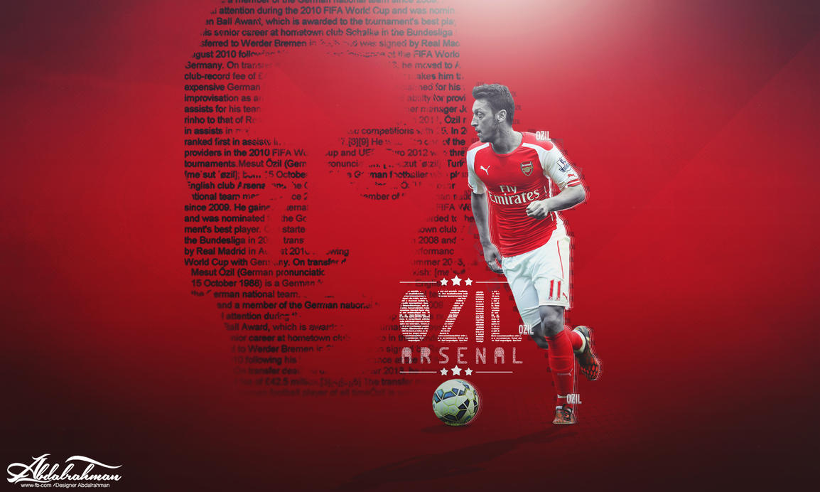 Wallpaper Mesut Ozil 2015 By Designer Abdalrahman On