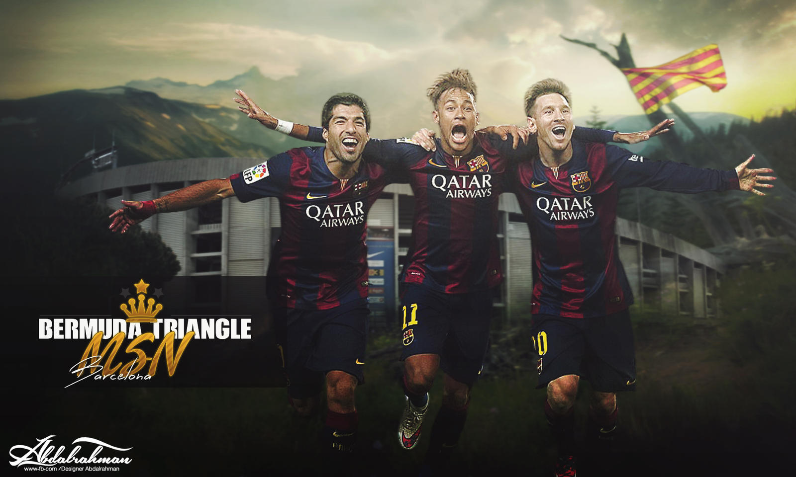 Wallpaper Messi Suarez Neymar Msn 2015 By Designer Abdalrahman