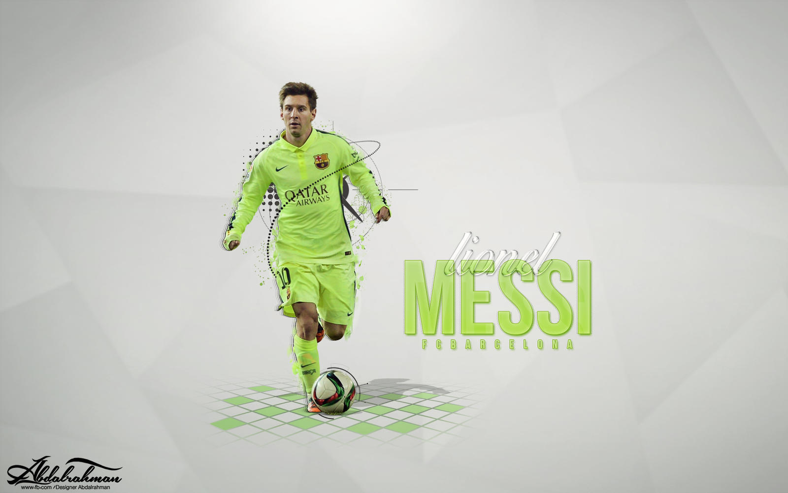 Wallpaper Lionel Messi 2015 By Designer-Abdalrahman On