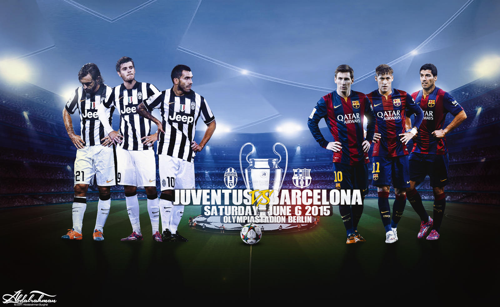 Fc Barcelona Vs Juventus By Designer Abdalrahman On Deviantart