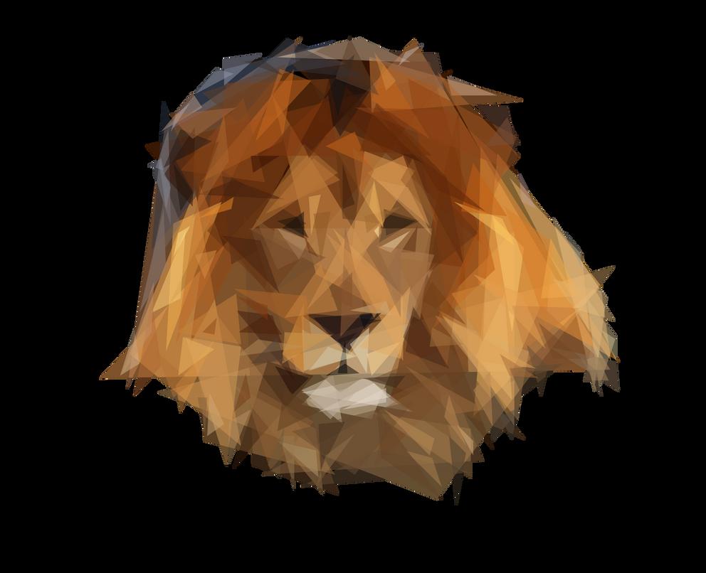 Triangular lion by Animatron-io