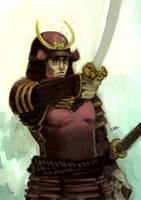 Maroon Samurai by LEKKER