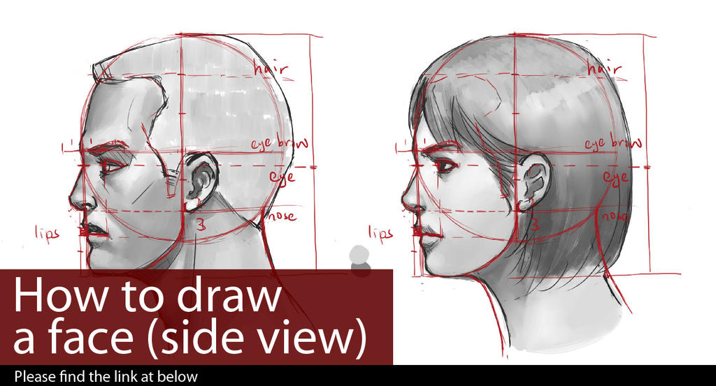 Tutorial how to draw a face side view by lekker