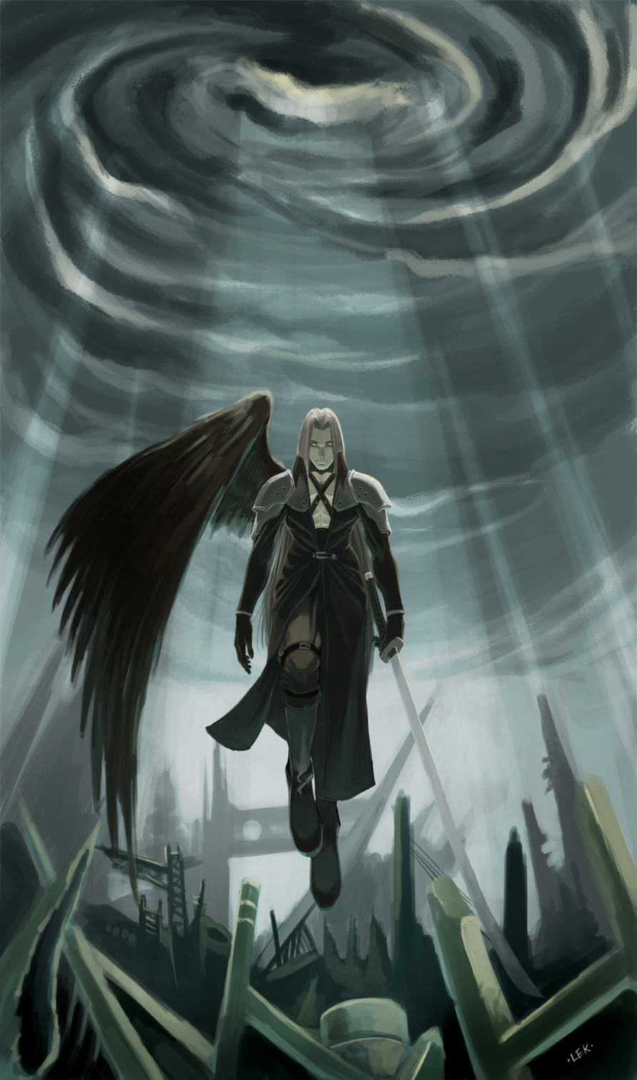 Advent : One-Winged Angel by LEKKER on DeviantArt One Winged Angel Sephiroth