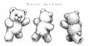 Running Teddy Bears by PinupsByGib