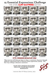 25 Expressions CLINT EASTWOOD by PinupsByGib