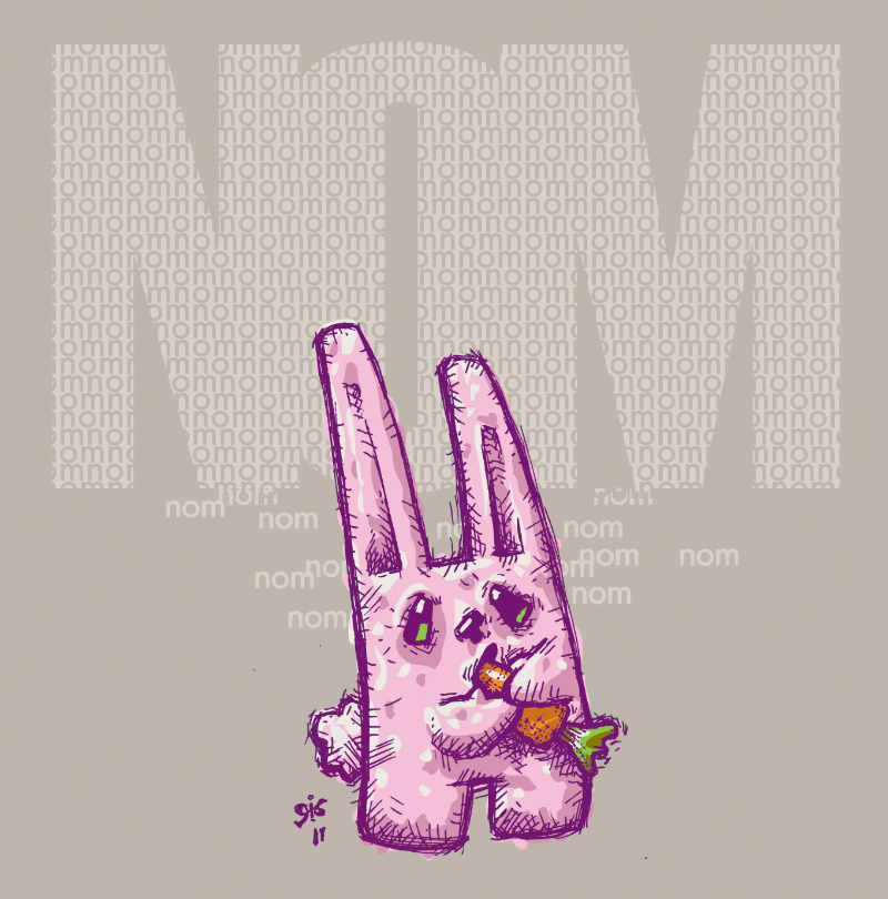 nom nom nom bunny thingy by Gib-Pinups-And-Toons