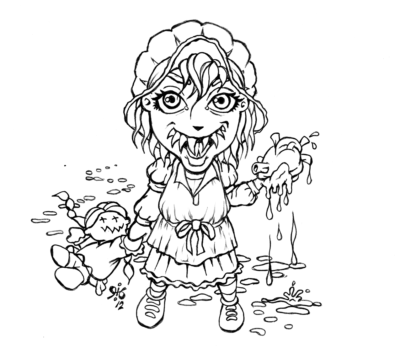 Little house onthe undead prairie by pinupsbygib on deviantart for Little house coloring pages