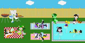 Susu's Pregnant Pool Party