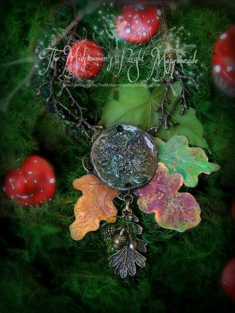 The Greenman Oak pendant 1 by EMasqueradeGallery