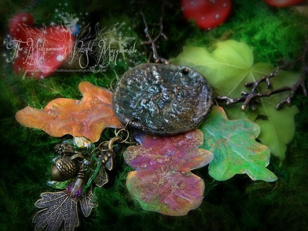 The Greenman Oak pendant 2 by EMasqueradeGallery