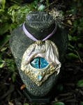 Dawn Winged Dragon Eye pendant by EMasqueradeGallery