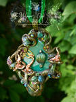 Stained Glass Faery Door pendant by EMasqueradeGallery