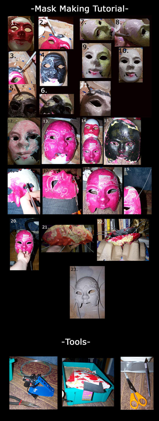 Paper Mask Making Tutorial by EMasqueradeGallery