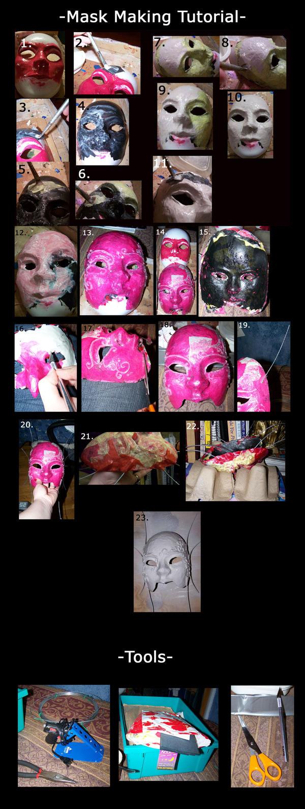 Paper Mask Making Tutorial
