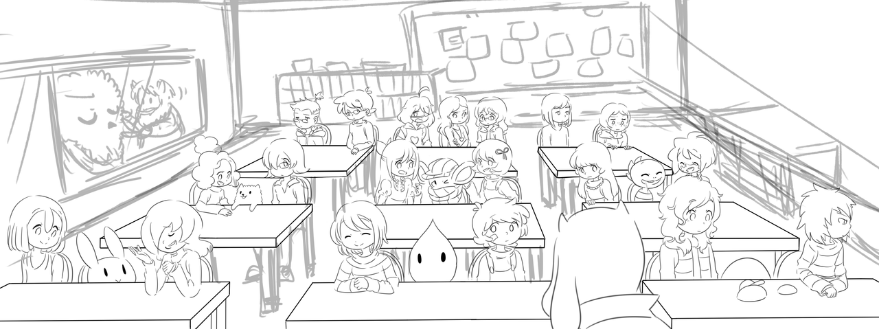 Classroom Design Sketch ~ Classroom wip by finni nf on deviantart