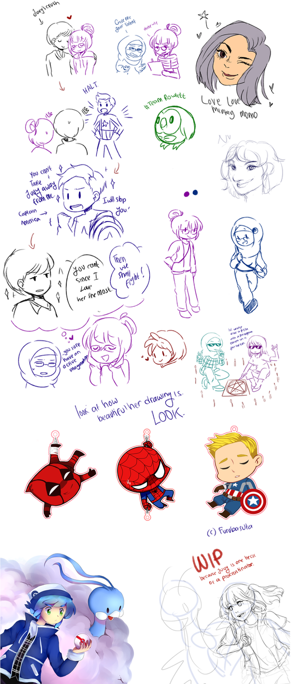 .:  Collab Doodles :. by Finni-NF