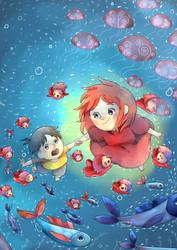 .: Playful Ponyo :. by Finni-NF